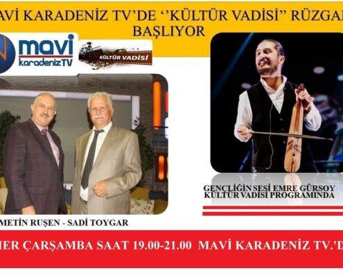 Kültür Vadisi Programı Mavi Karadeniz TV'de Başlıyor